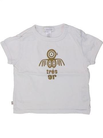 T-shirt manches courtes garçon OKAIDI blanc 6 mois été #1421647_1
