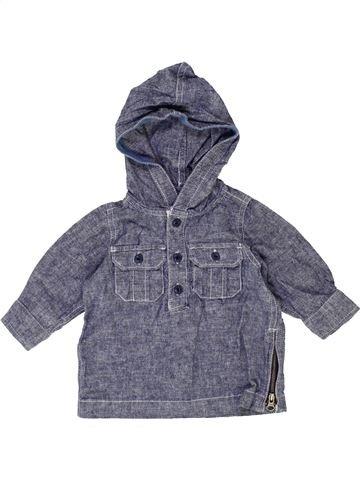 Camisa de manga larga niño GAP azul 6 meses invierno #1421974_1
