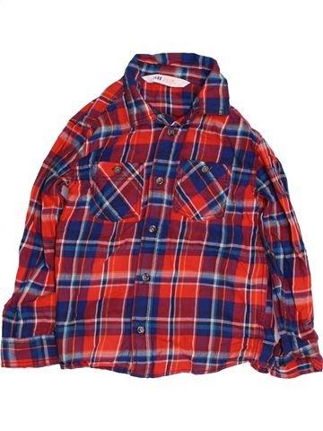 Chemise manches longues garçon H&M violet 3 ans hiver #1422006_1