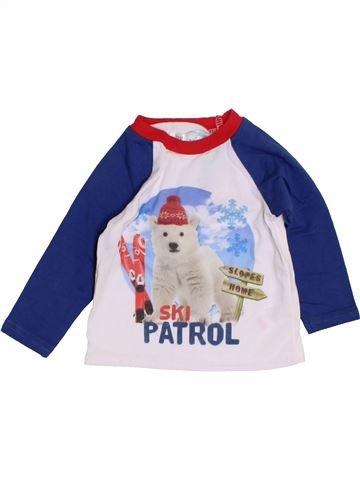 T-shirt manches longues garçon M&CO bleu 3 mois hiver #1422653_1