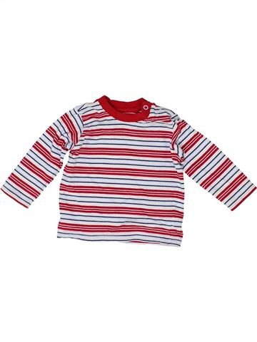 Camiseta de manga larga niño SANS MARQUE blanco 6 meses invierno #1422969_1