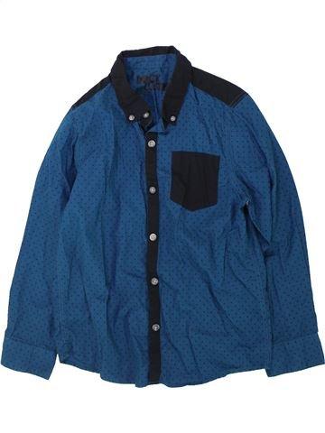Camisa de manga larga niño SANS MARQUE azul 7 años invierno #1423243_1