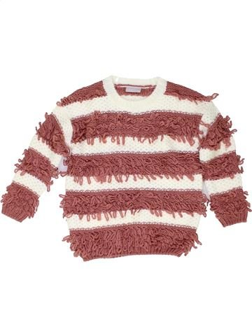 Pull fille I LOVE GIRLSWEAR marron 5 ans hiver #1423285_1
