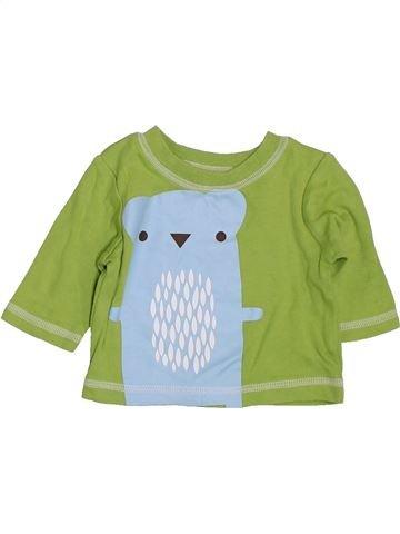 T-shirt manches longues garçon GEORGE vert prématuré hiver #1423383_1