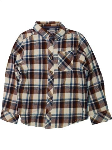 Chemise manches longues garçon BOYS marron 7 ans hiver #1423857_1