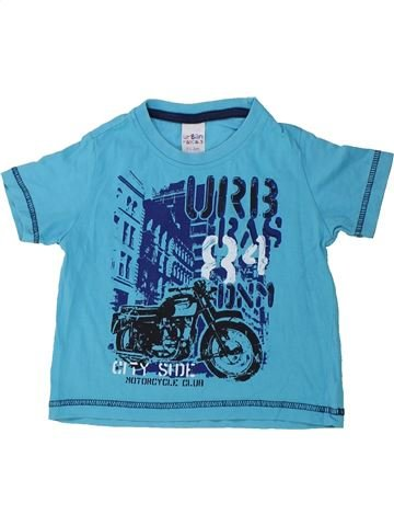 T-shirt manches courtes garçon URBAN RASCALS bleu 2 ans été #1423890_1