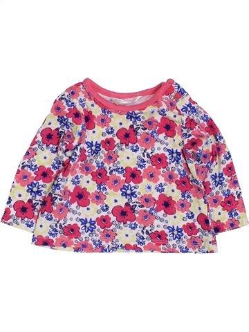 T-shirt manches longues fille M&CO rose 3 mois hiver #1423909_1