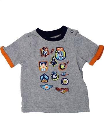 T-shirt manches courtes garçon MOTHERCARE gris 6 mois été #1424407_1