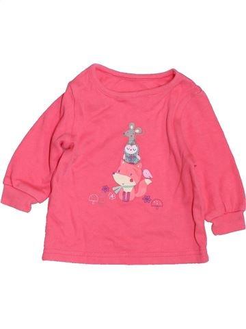 Camiseta de manga larga niña GEORGE rosa 3 meses invierno #1424966_1