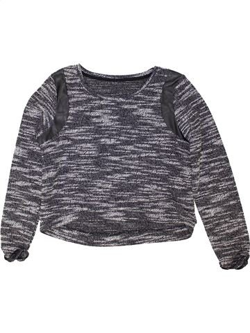Pull fille C&A gris 10 ans hiver #1425089_1