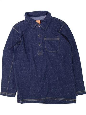 Polo manches longues garçon PUSBLU bleu 6 ans hiver #1425797_1