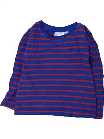 T-shirt manches longues garçon IMPIDIMPI violet 18 mois hiver #1425943_1