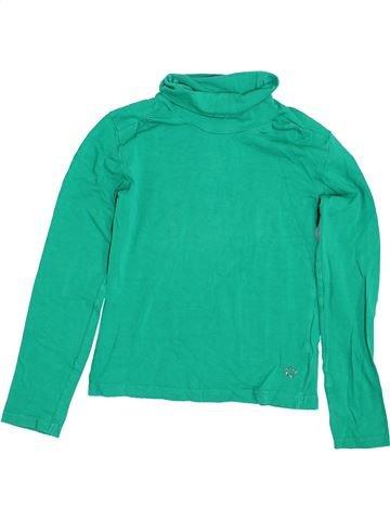 T-shirt col roulé fille JBC vert 10 ans hiver #1426104_1