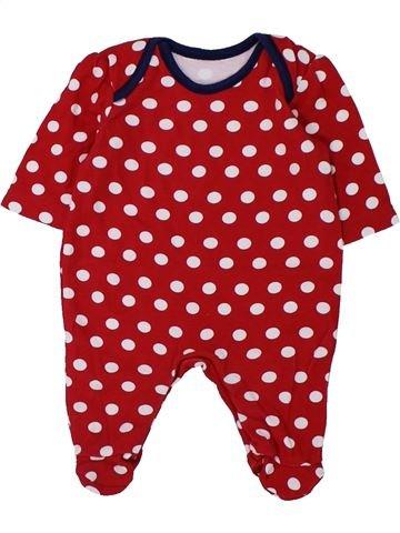 Pyjama 1 pièce fille GEORGE rouge prématuré été #1426515_1
