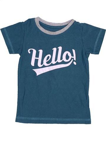 T-shirt manches courtes garçon MATALAN bleu 12 mois été #1426873_1