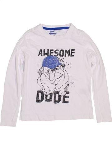 T-shirt manches longues garçon PEPPERTS blanc 8 ans hiver #1427021_1