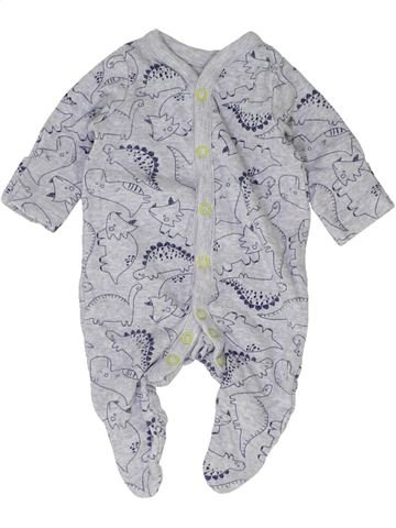 Pyjama 1 pièce garçon MOTHERCARE gris prématuré été #1427127_1