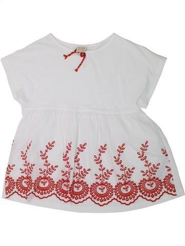 T-shirt manches courtes fille ZARA blanc 12 ans été #1427422_1