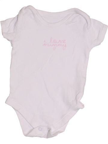 Camiseta de manga corta niña MATALAN blanco 6 meses verano #1427514_1