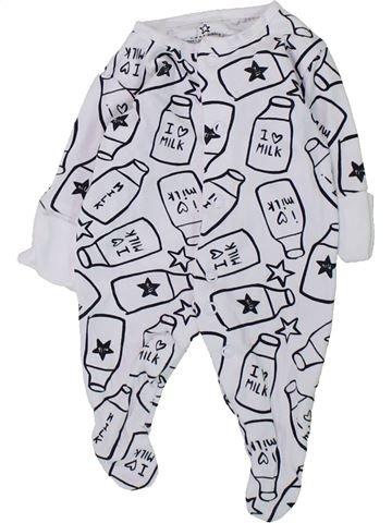 Pyjama 1 pièce unisexe NEXT blanc prématuré été #1427651_1