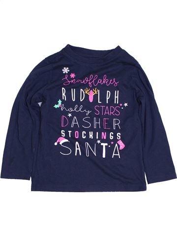 T-shirt manches longues fille LILY & DAN bleu 4 ans hiver #1427934_1