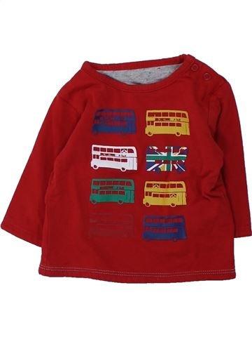 T-shirt manches longues garçon OKAIDI violet 3 mois hiver #1428030_1