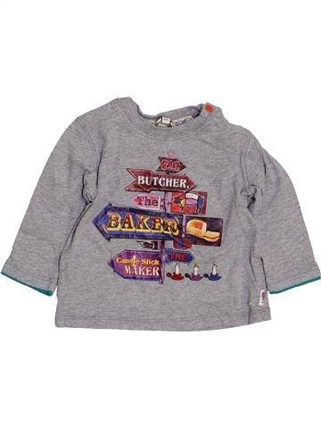 T-shirt manches longues garçon BAKER gris 9 mois hiver #1428077_1