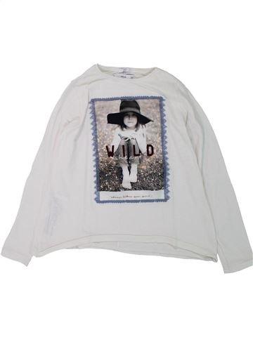 T-shirt manches longues fille MANGO blanc 10 ans hiver #1428228_1