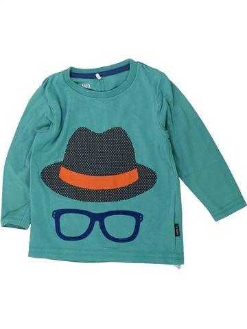 T-shirt manches longues garçon NAME IT bleu 12 mois hiver #1428303_1