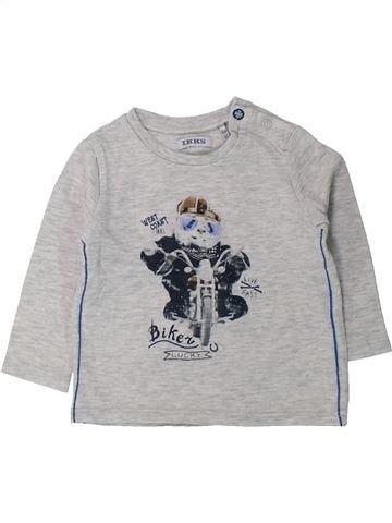 T-shirt manches longues garçon IKKS gris 6 mois hiver #1428329_1