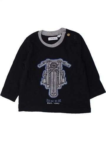 T-shirt manches longues garçon IKKS noir 6 mois hiver #1428339_1