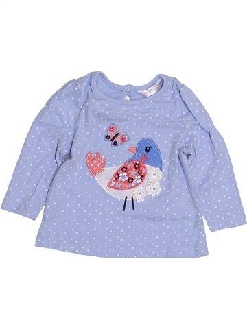 T-shirt manches longues fille M&CO violet 6 mois hiver #1428928_1