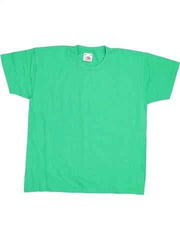 T-shirt manches courtes garçon FRUIT OF THE LOOM vert 8 ans été #1429112_1