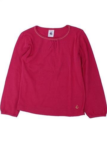 T-shirt manches longues fille PETIT BATEAU rouge 3 ans hiver #1429113_1