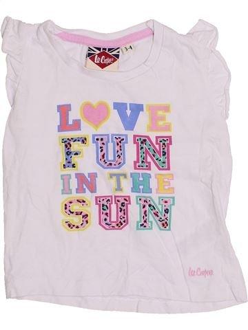 T-shirt manches courtes fille LEE COOPER blanc 4 ans été #1429235_1