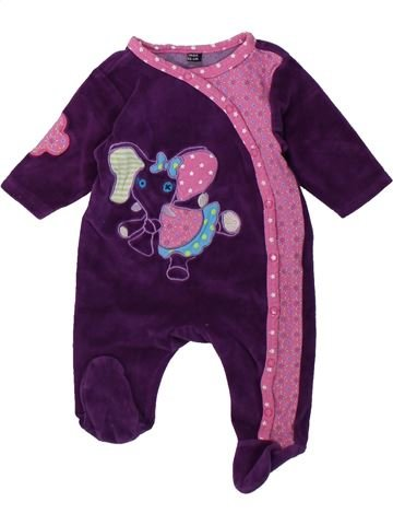Pijama de 1 pieza niña LES DEGLINGOS violeta 1 mes invierno #1429607_1