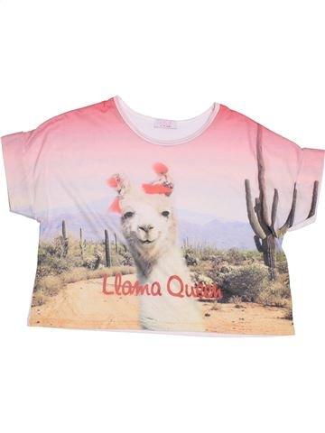 T-shirt manches courtes fille KYLIE blanc 10 ans été #1429896_1
