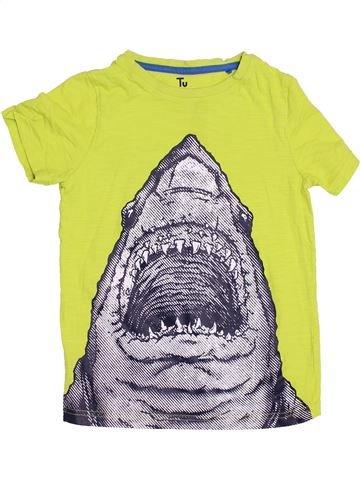 T-shirt manches courtes garçon TU jaune 7 ans été #1429933_1
