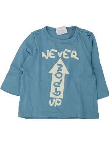 T-shirt manches longues garçon KIABI bleu 6 mois hiver #1430714_1