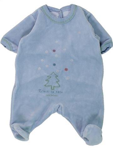 Pijama de 1 pieza niño PETIT BATEAU azul 0 meses invierno #1430820_1