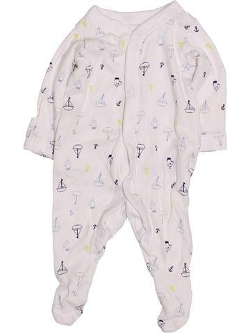Pyjama 1 pièce garçon NUTMEG blanc prématuré hiver #1430999_1