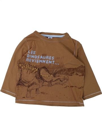 T-shirt manches longues garçon PETIT BATEAU marron 3 ans hiver #1431052_1