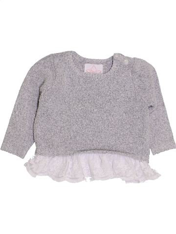 Pull fille PRIMARK gris 9 mois hiver #1431370_1