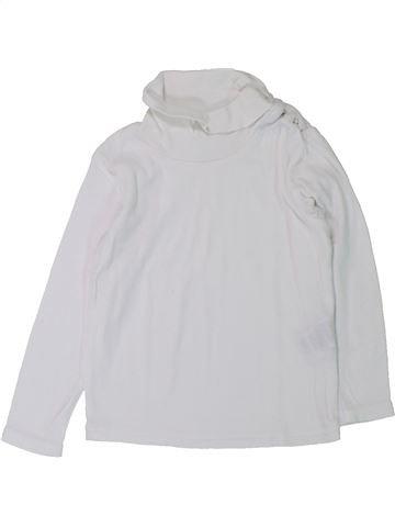 T-shirt col roulé fille DÉCATHLON blanc 3 ans hiver #1431386_1