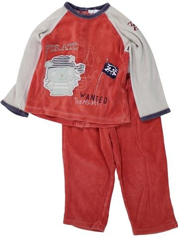 Pyjama 2 pièces garçon KIABI orange 3 ans hiver #1431459_1