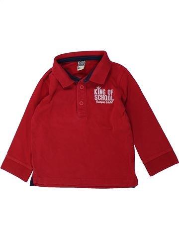 Polo de manga larga niño TAPE À L'OEIL rojo 3 años invierno #1431468_1
