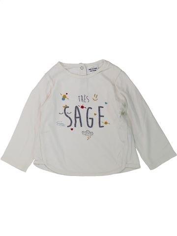 T-shirt manches longues fille TAPE À L'OEIL blanc 18 mois hiver #1431547_1
