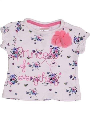 Camiseta de manga corta niña BABY blanco 3 meses verano #1431839_1