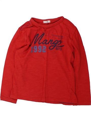 T-shirt manches longues garçon MANGO rouge 5 ans hiver #1431907_1