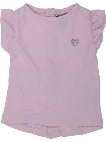 T-shirt manches courtes fille KIABI rose 1 mois été #1432021_1